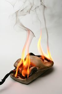 Computer Mouse on Fire